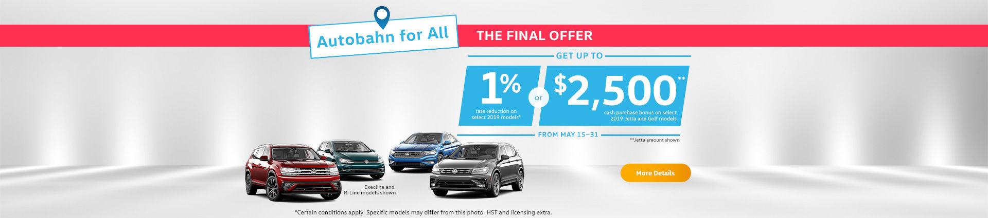 Volkswagen short Sales Event!