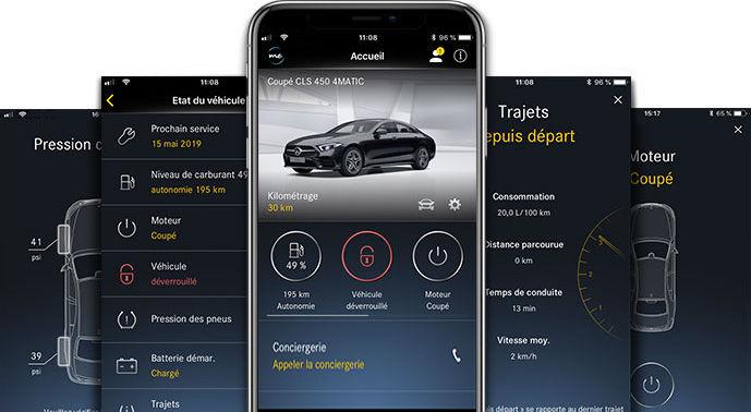 L'application Mercedes me connect App.
