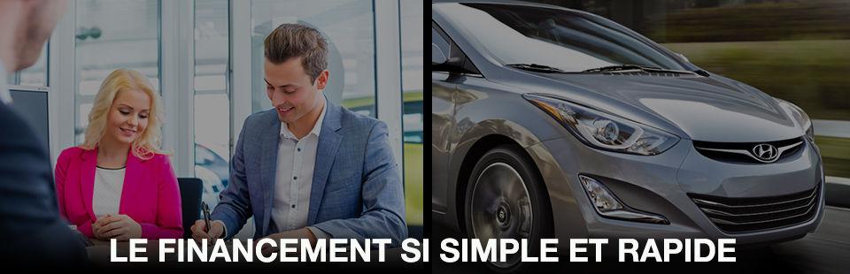 Page de financement automobile