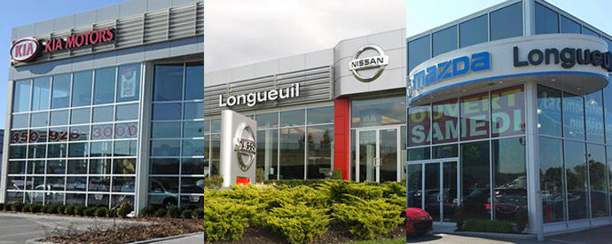 Kia, Nissan, Mazda dealership in Longueuil