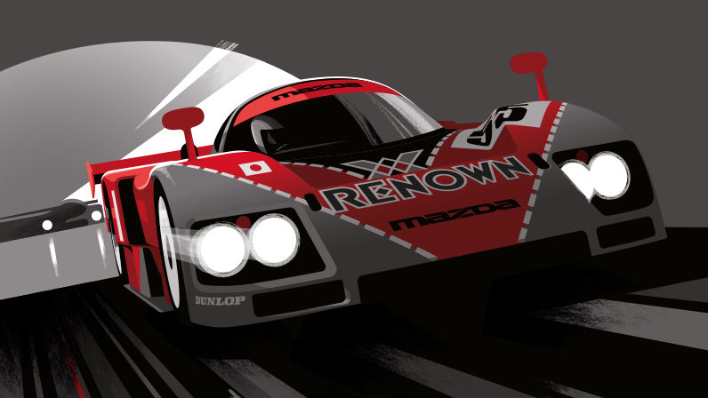 Illustration Guy Allen - 24Heures du Mans