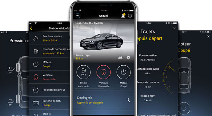 L'application Mercedes me connect App.