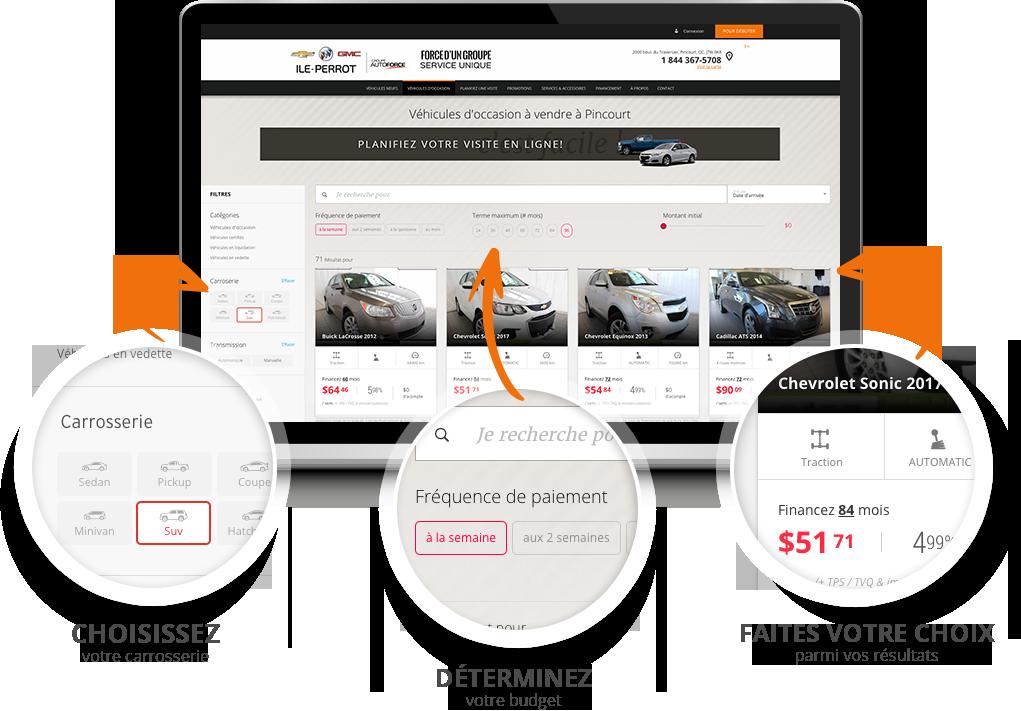 Sauvez du temps en concession en accomplissant toutes les étapes de l'achat du véhicule vous-même