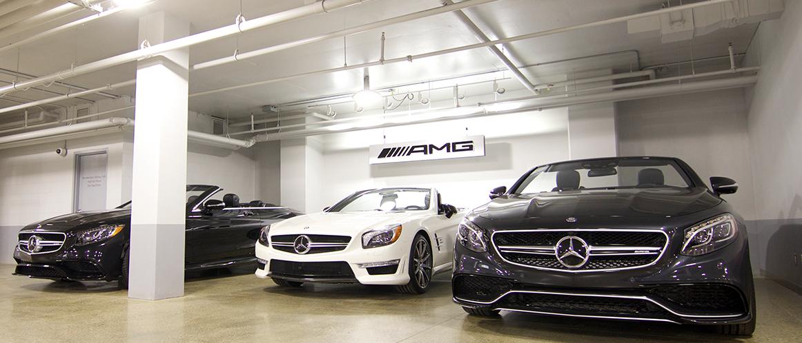 Mercedes-Benz heritage valley AMG parking