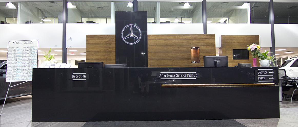 Mercedes-Benz heritage valley showroom front desk
