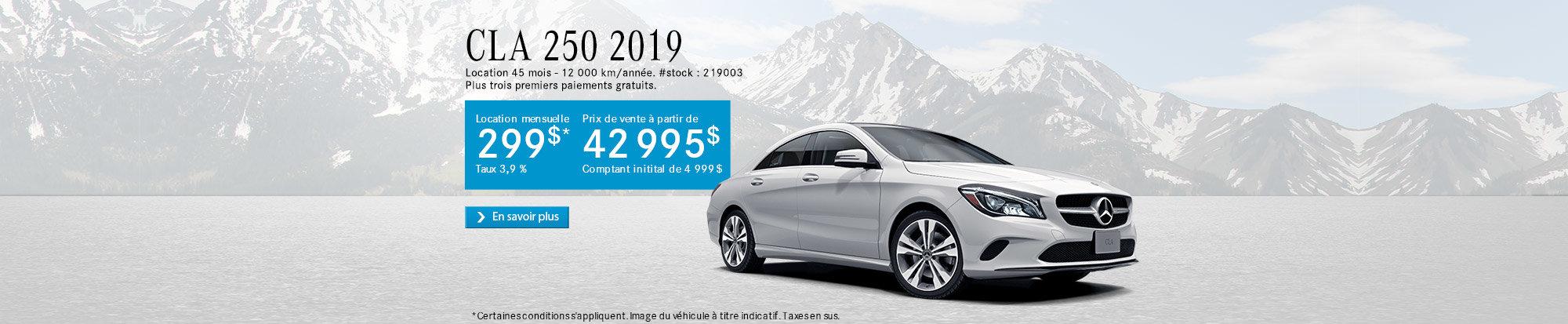 CLA 250 2019 - web