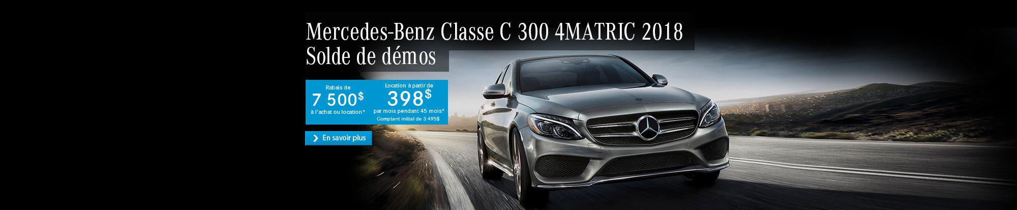 Démos Mercedes Classe C 300 4MATIC 2018
