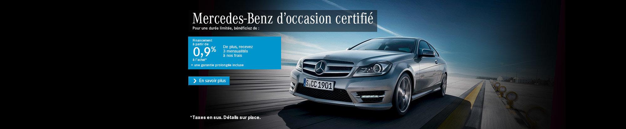 Mercedes-Benz d'occasion certifié web