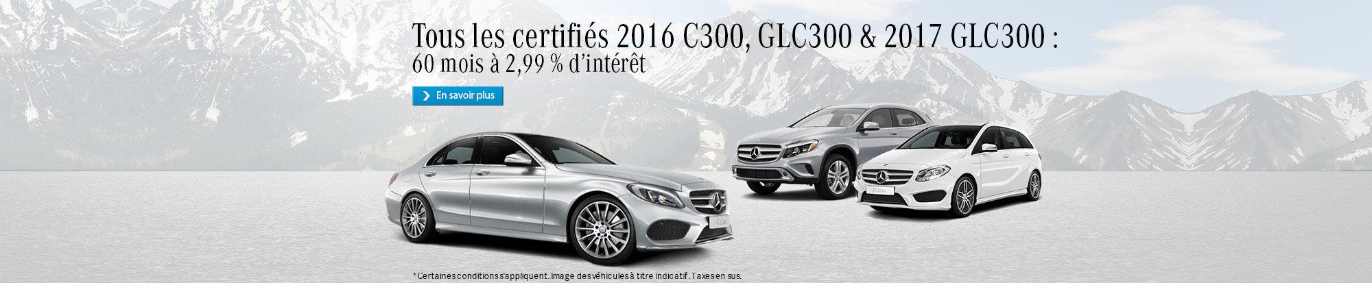 Véhicules certifiés Mercedes-Benz