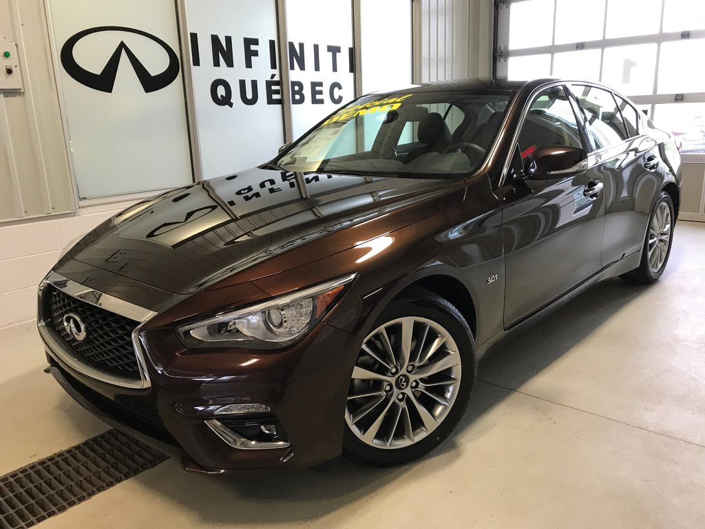 New 2018 Infiniti Q50 30t Luxe For Sale In Quebec Remote Starter