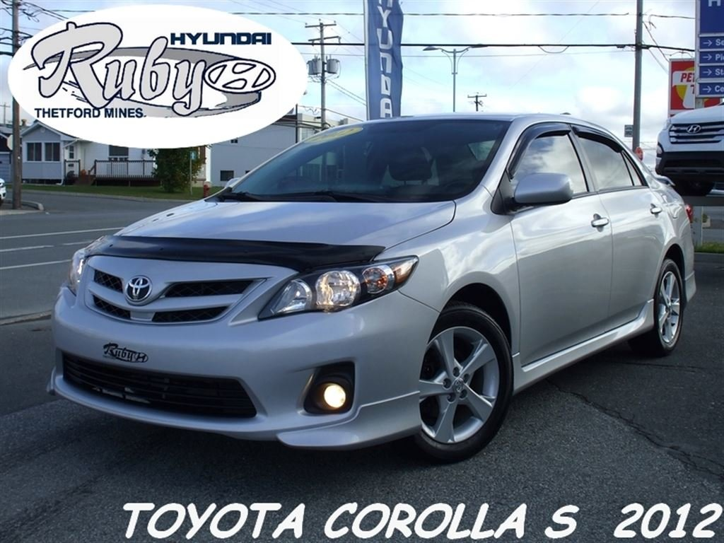 Used 2012 Toyota Corolla S (M5) + TRES PROPRE + BAS MILLAGE To Sale For $11  In Thetford Mines   Used Inventory   Ruby Hyundai In Thetford Mines, Quebec