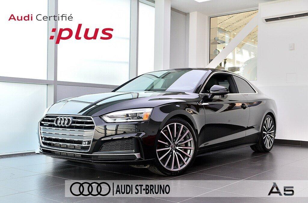 Audi A5 PROGRESSIV + LE MOINS CHÈRE + S-LINE 2018 à St-Bruno, Québec - 1 - w1024h768px