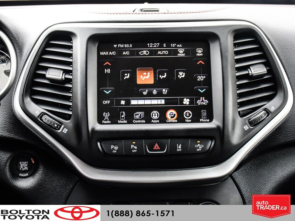 2016 Jeep Cherokee 4x4 Trailhawk in Bolton, Ontario - 24 - w1024h768px