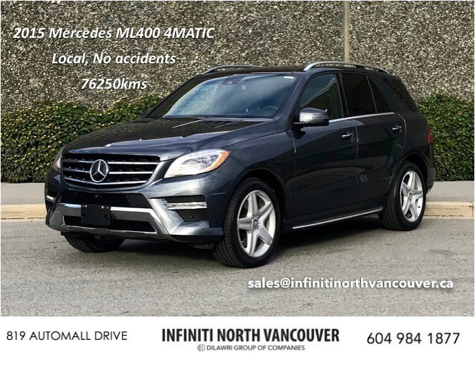 2015 Mercedes-Benz ML400 4MATIC in North Vancouver, British Columbia - 6 - w1024h768px