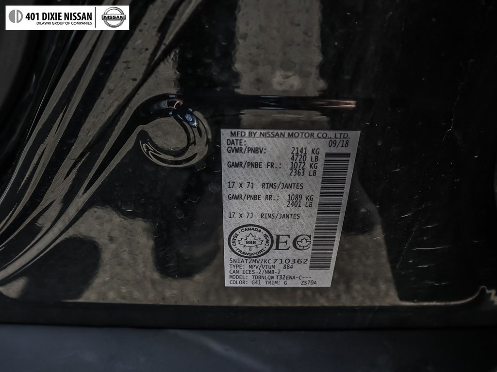 2019 Nissan Rogue SV AWD CVT in Mississauga, Ontario - 19 - w1024h768px