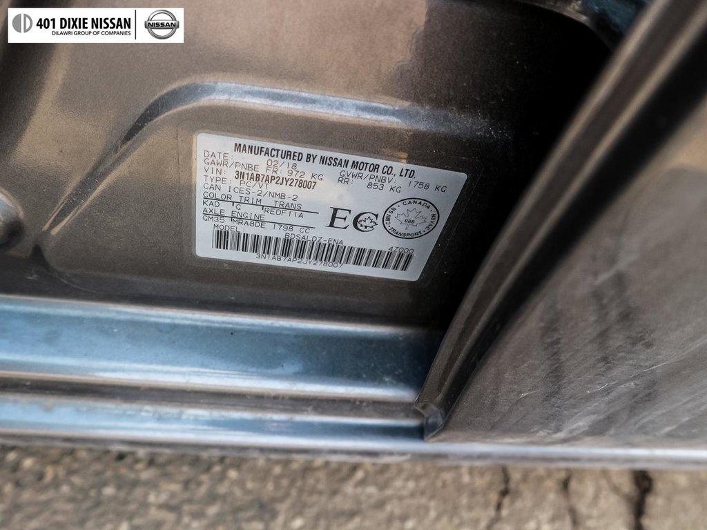 2018 Nissan Sentra 1.8 SV CVT in Mississauga, Ontario - 54 - w1024h768px