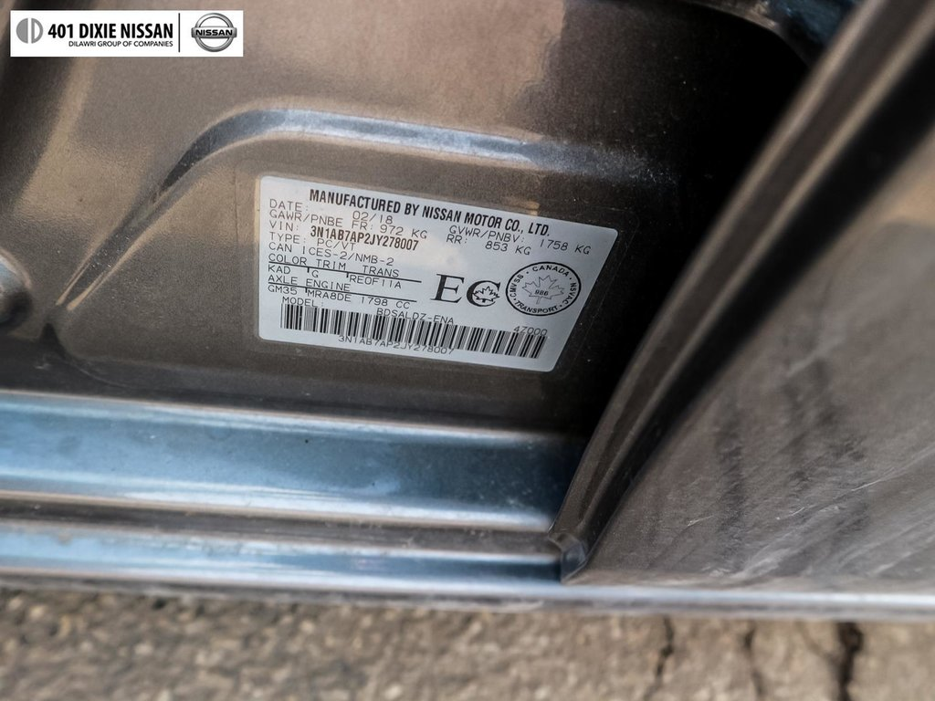 2018 Nissan Sentra 1.8 SV CVT in Mississauga, Ontario - 26 - w1024h768px