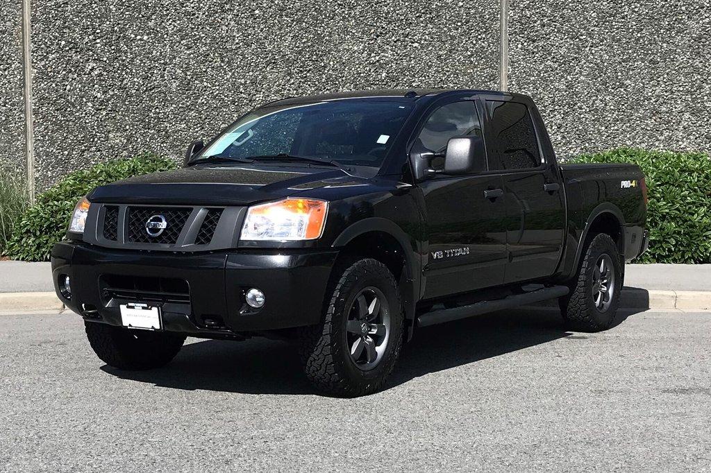 2015 Nissan Titan Crew Cab PRO-4X 4X4 SWB in North Vancouver, British Columbia - 1 - w1024h768px