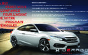 2016 Honda Civic Sedan EX-T+SEULEMENT 41 187KM+JAMAIS ACCIDENTE
