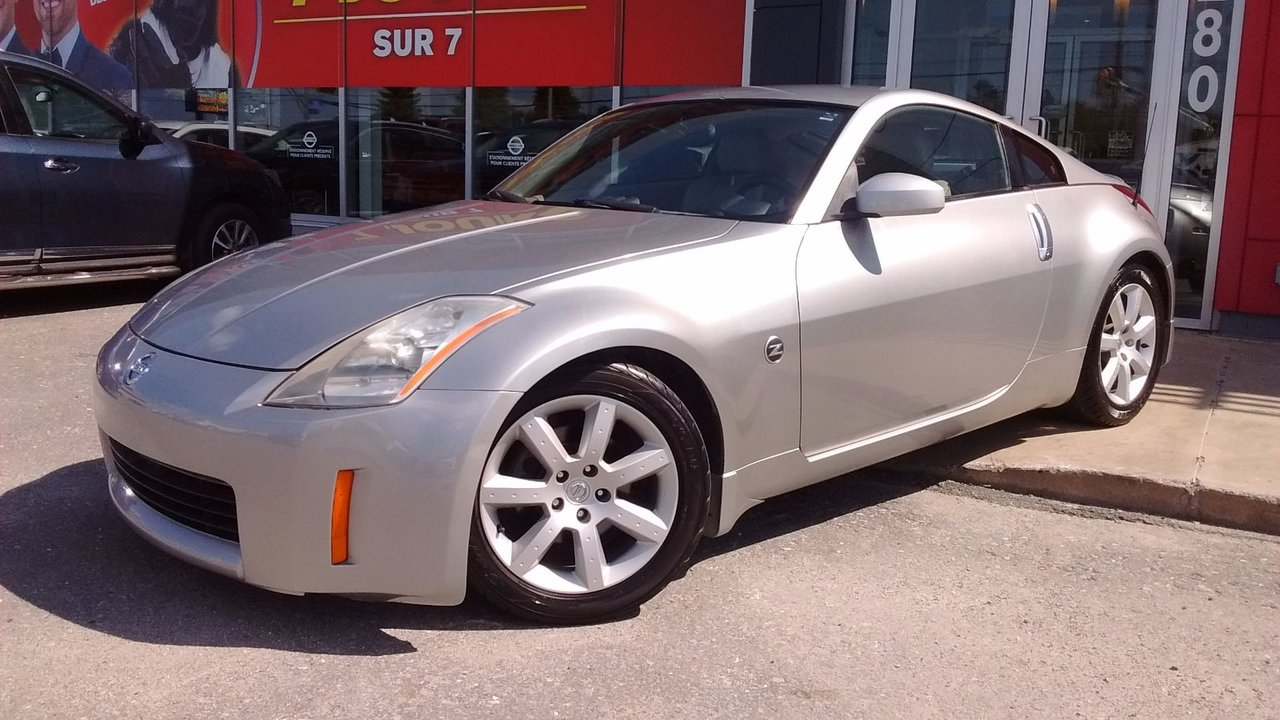 nissan 350z 2004 d 39 occasion vendre chez sherbrooke nissan inc. Black Bedroom Furniture Sets. Home Design Ideas