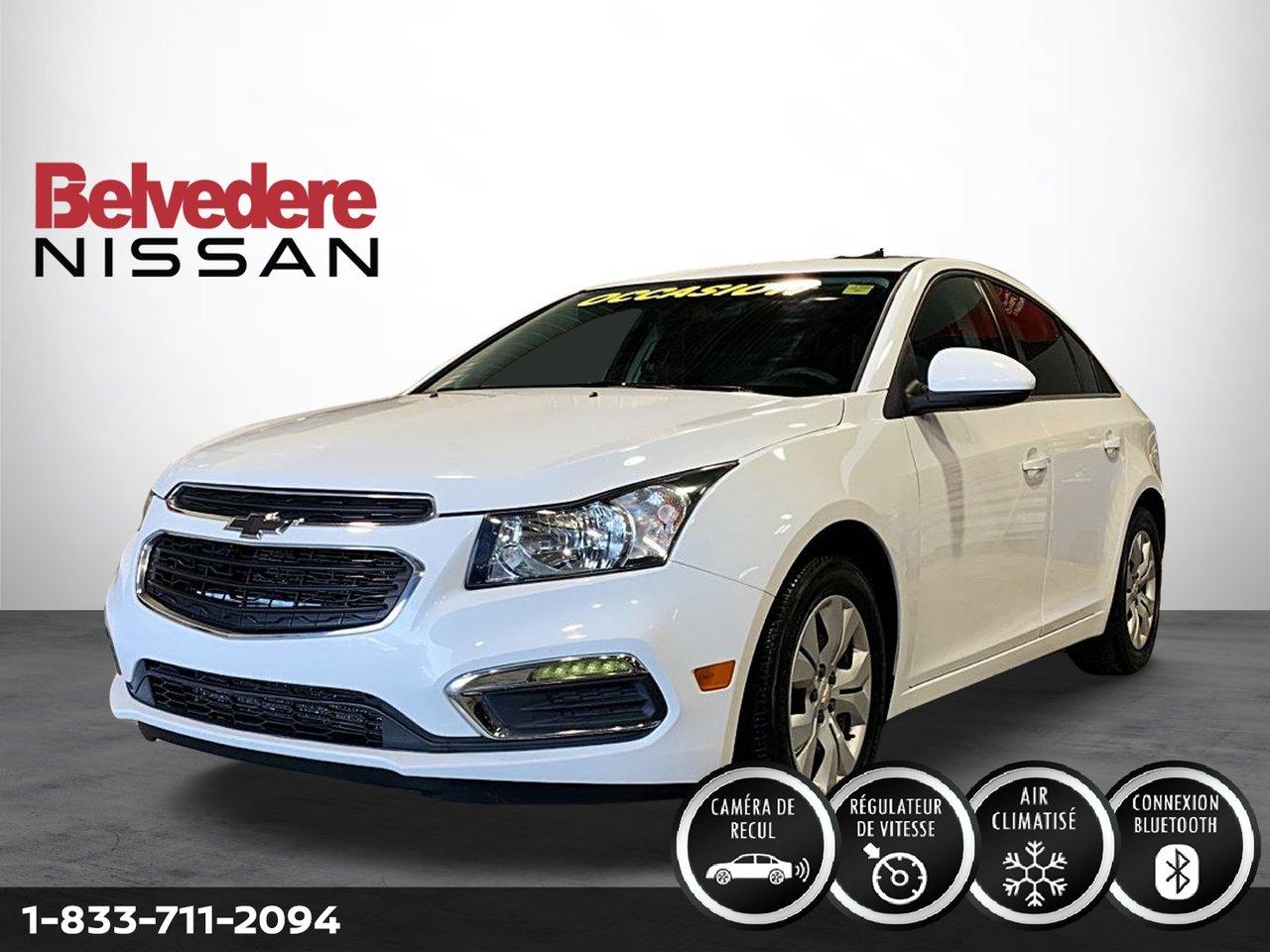 Chevrolet Cruze 2016 TOIT OUVRANT AUTOMATIQUE RÉGULATEUR DE VITESS