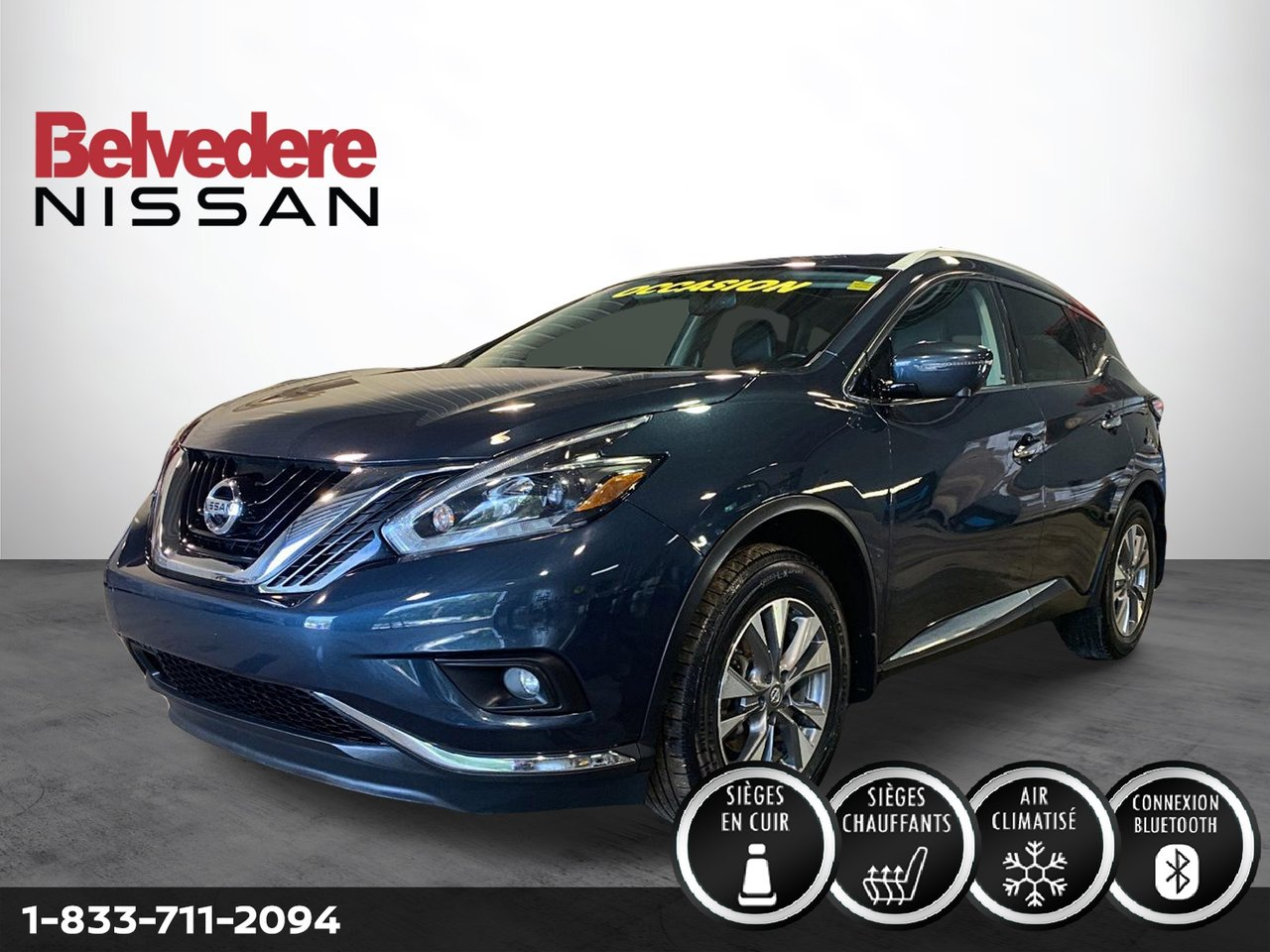 Nissan Murano 2018 SL AWD CUIR TOIT-OUVRANT NAVIGATION CAMERA MA