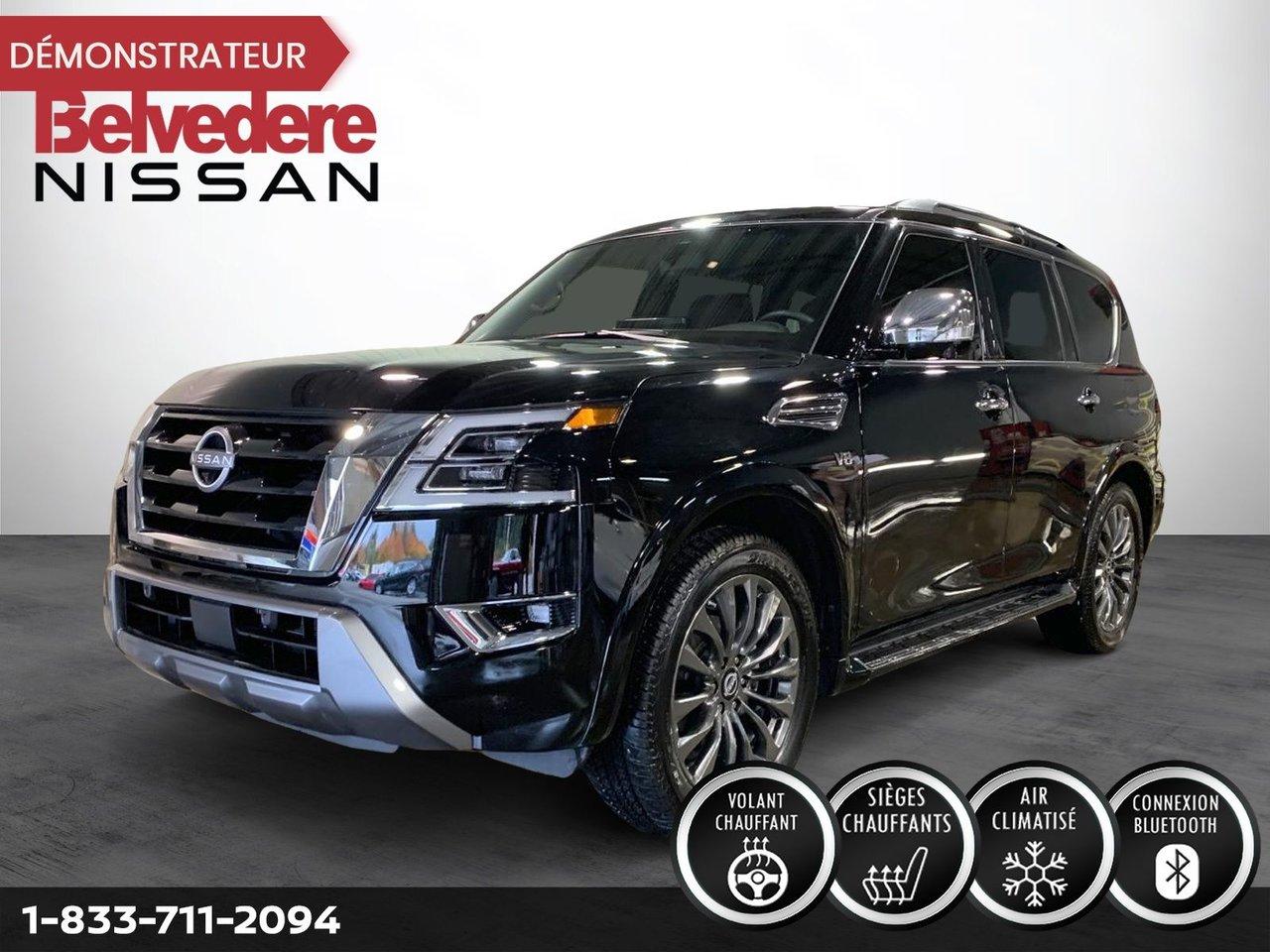 Nissan Armada 2021 PLATINUM 4X4 V8 5.6L SIEGES CAPITAINE TOIT PA