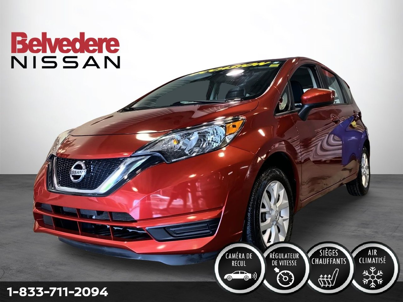 Nissan Versa Note 2017 SV AUTOMATIQUE A/C MAGS CAMERA BLUETOOTH