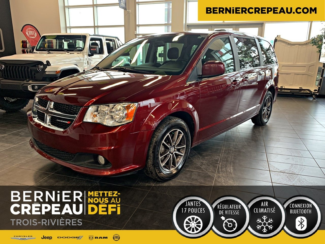 2017 Dodge  Grand Caravan SXT PREMIUM PLUS / BLUETOOTH STOW N GO