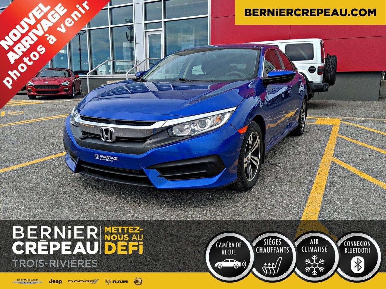 2016 Honda  Civic Sedan LX A/C CAMERA MAG BLUETOOTH