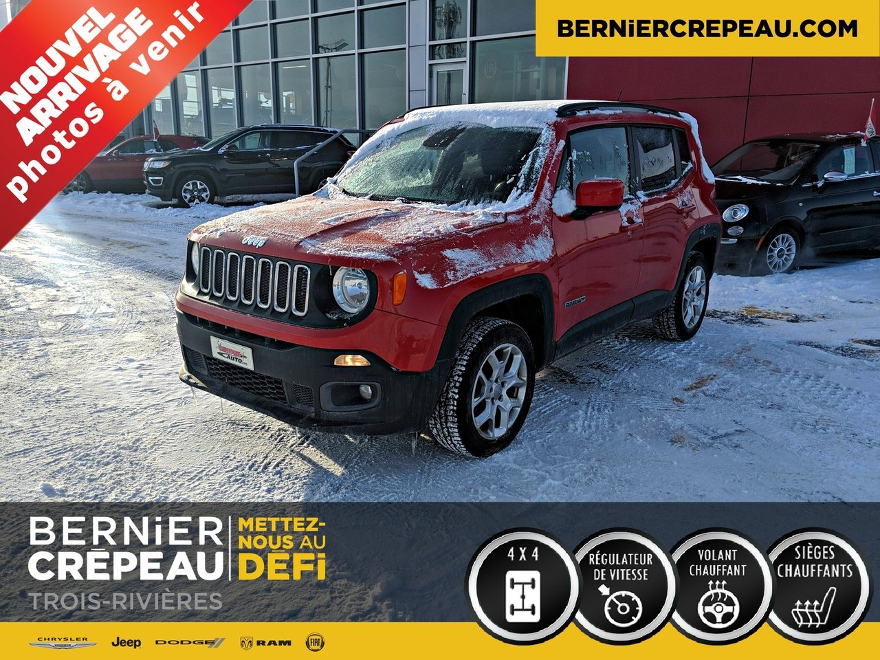 2015 Jeep  Renegade NORTH 4X4 DEMARREUR A DISTANCE