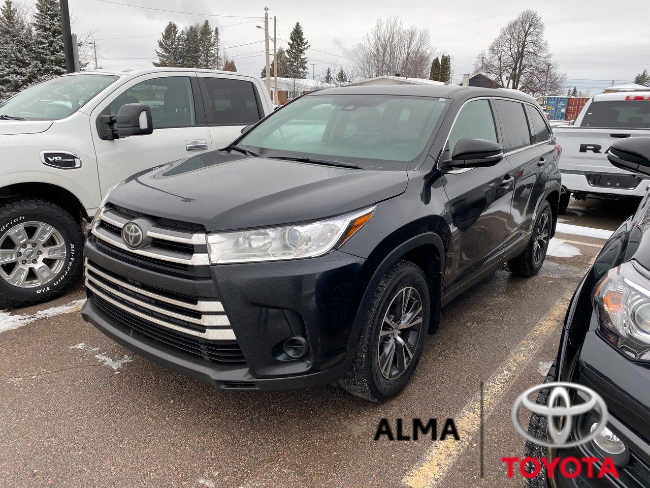 2019 Toyota  Highlander LE, AWD, JAMAIS ACCIDENTÉ, TOYOTA SAFETY SENS