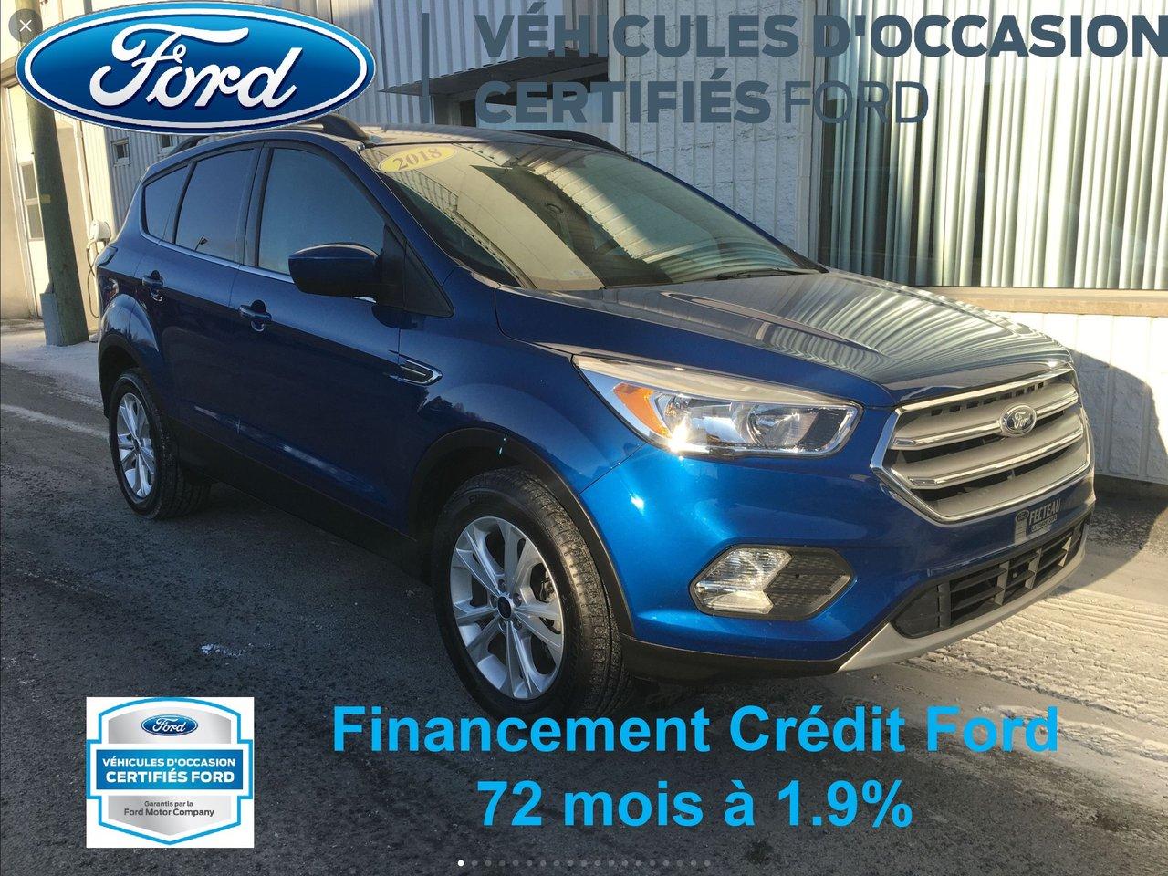 2018 Ford Escape SE, AWD, OCCASION CERTIFIÉ FORD