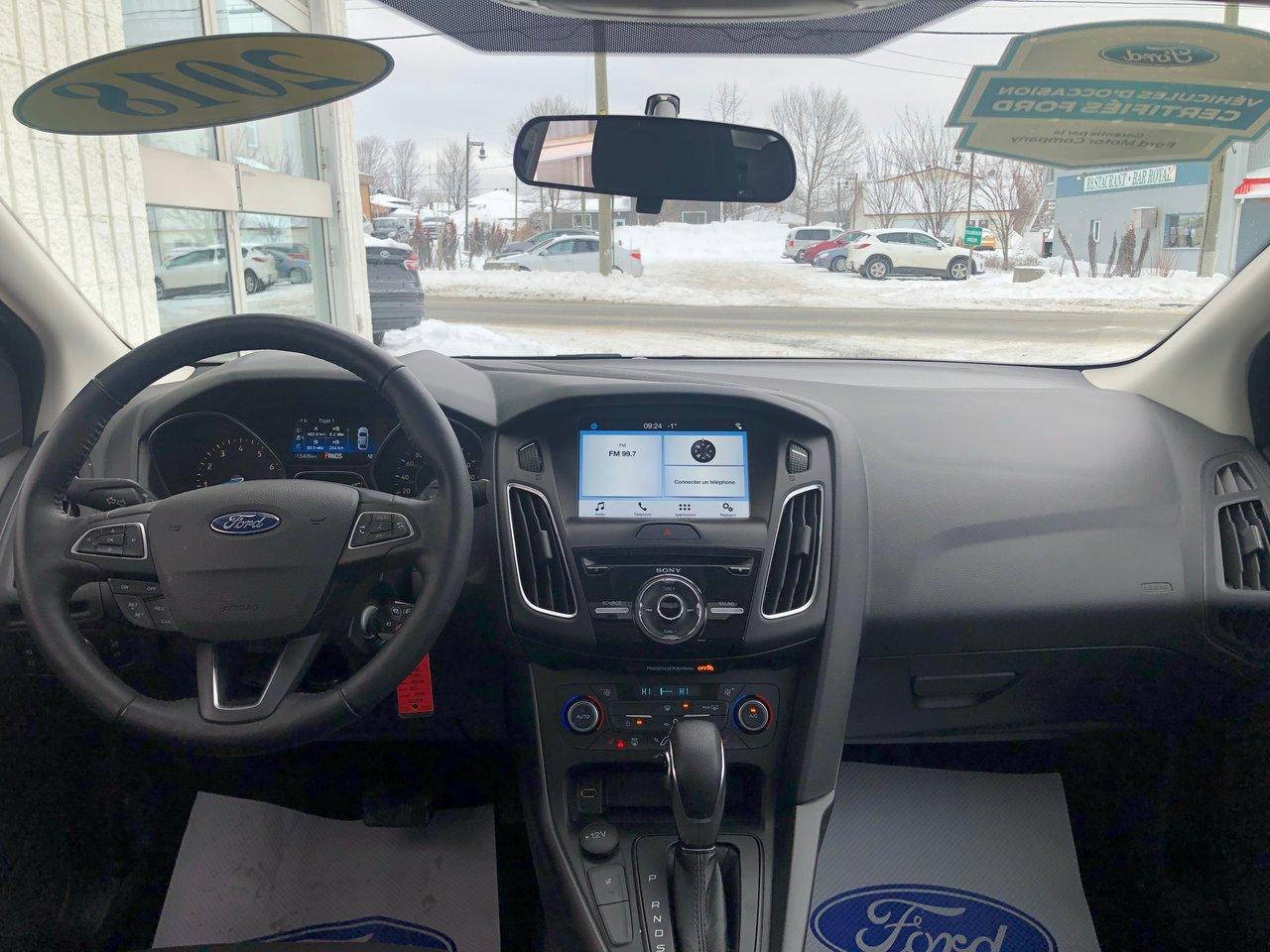 2018 Ford Focus SEL, ENSEMBLE NOIR, OCCASION CERTIFIÉ FORD
