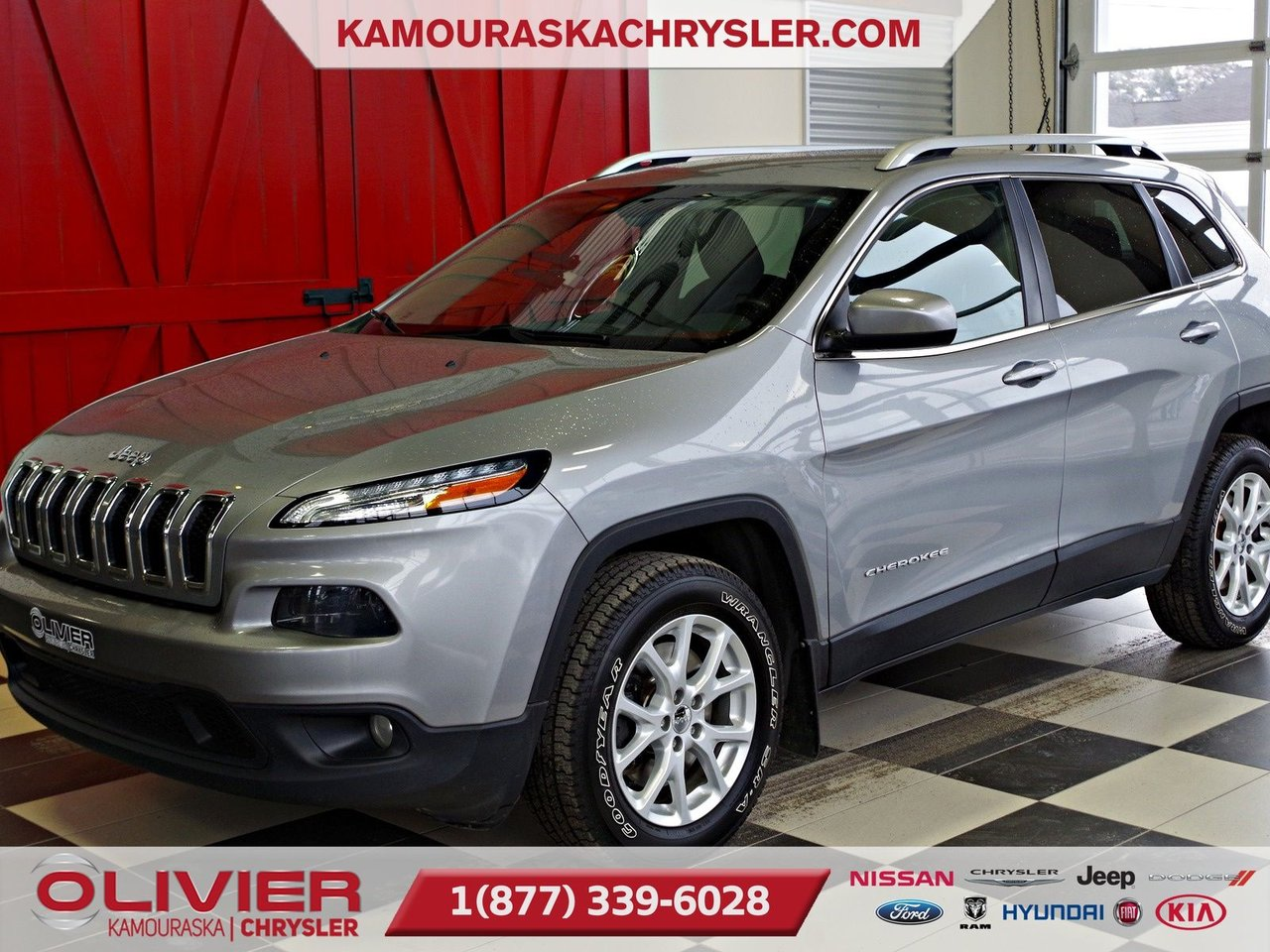 2014 Jeep  Cherokee North, GPS, DÉMARREUR A DISTANCE, MAGS, BLUET