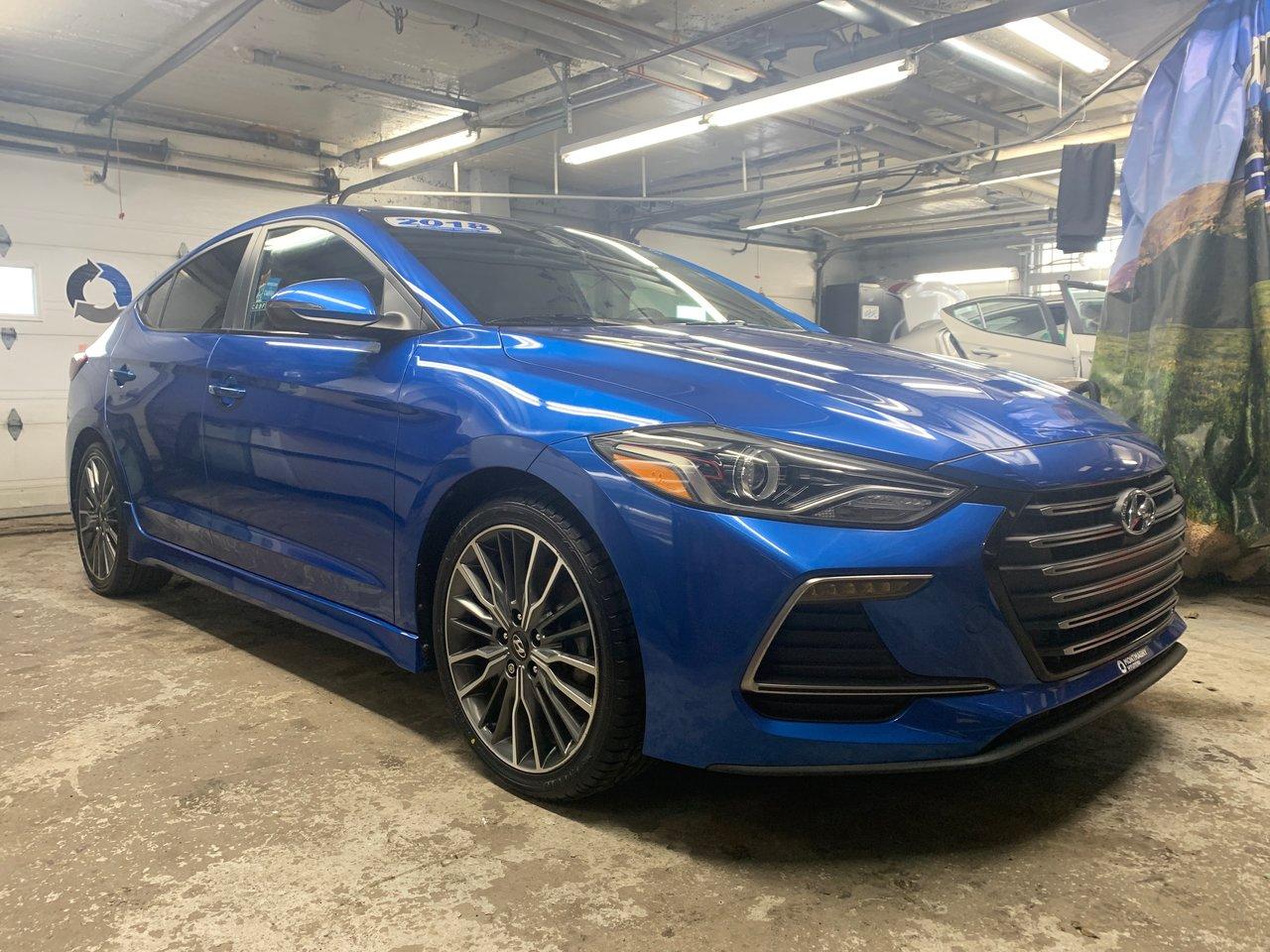 2018 Hyundai  Elantra Sport; 201 hp; moteur 1.6 Turbo;