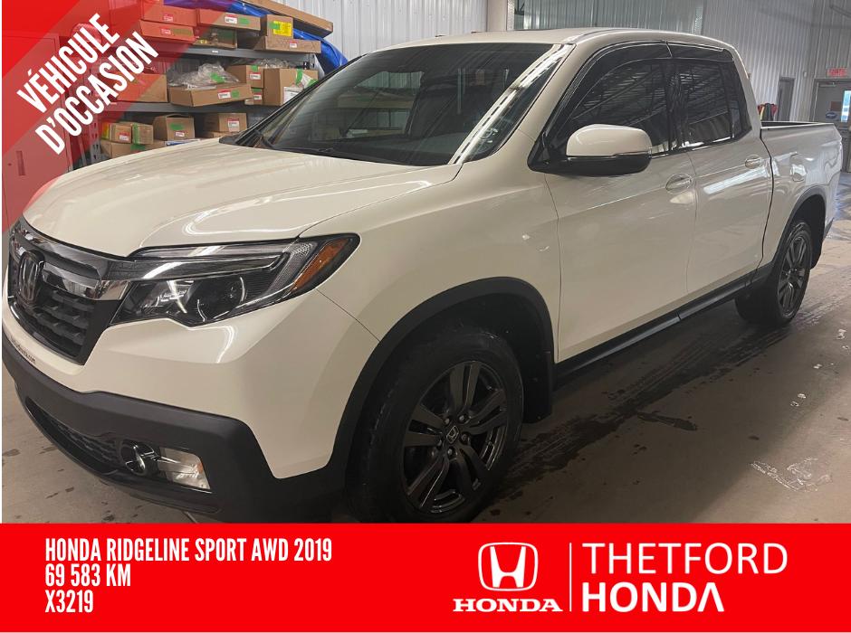 Honda Ridgeline 2019 Sport AWD  **TOIT ** UN SEUL PROPRIO ** PNEUS