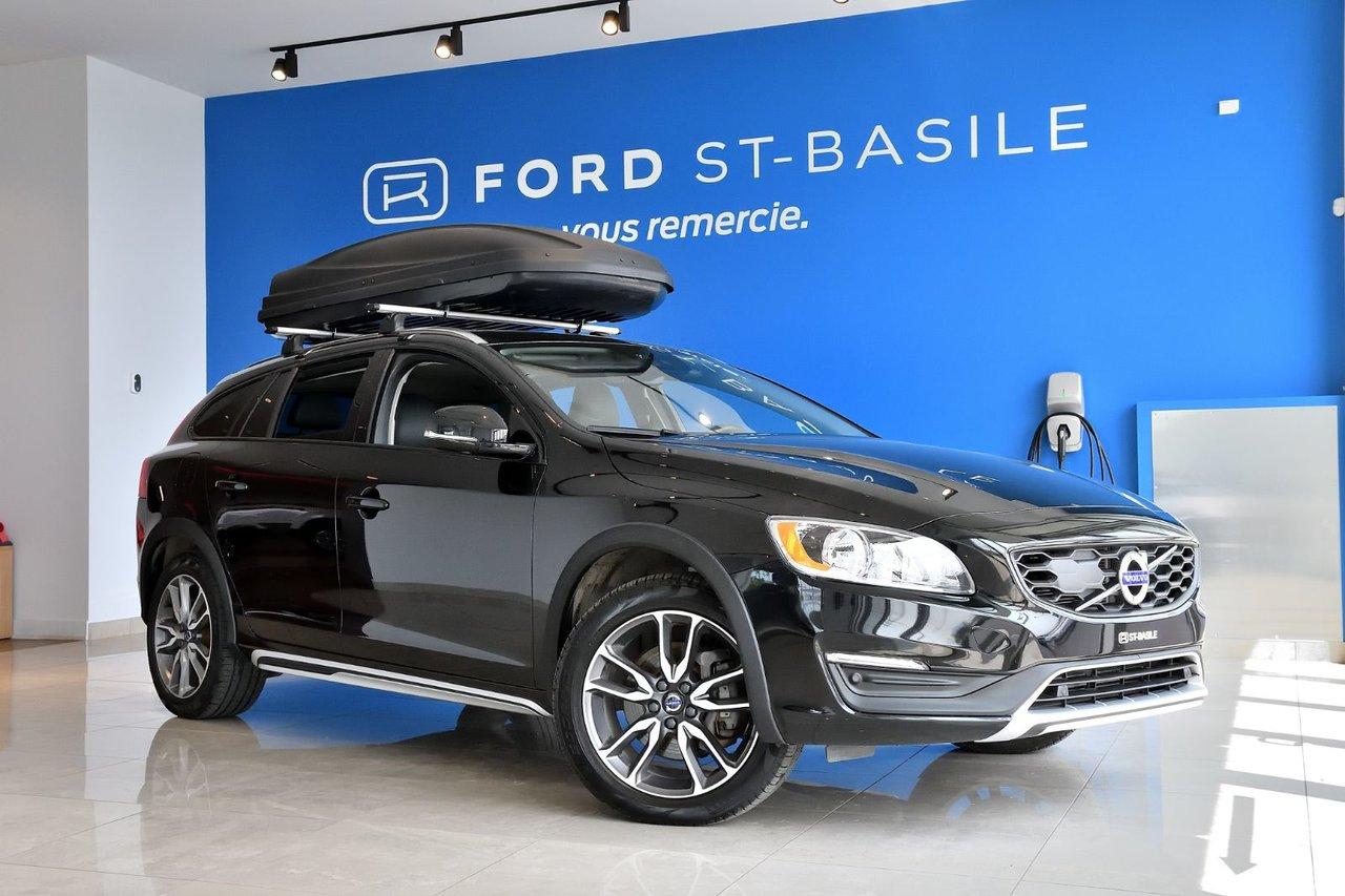 2017 Volvo  V60 Cross Country T5+TECK PACK+ CUIR+ TOIT+ COFFRE DE TOIT INCL