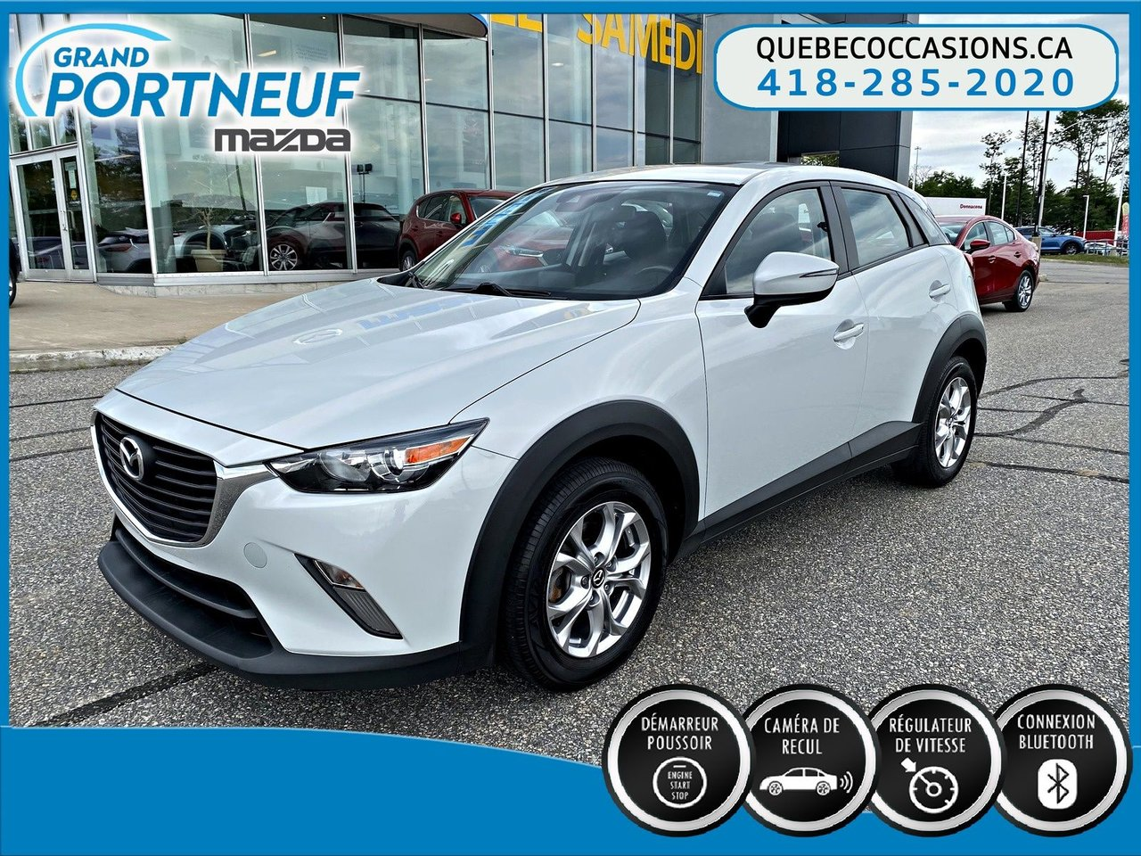 2018 Mazda  CX-3 GS-(LUXE) - AWD- TOIT OUVRANT - CUIR - DÉMARR