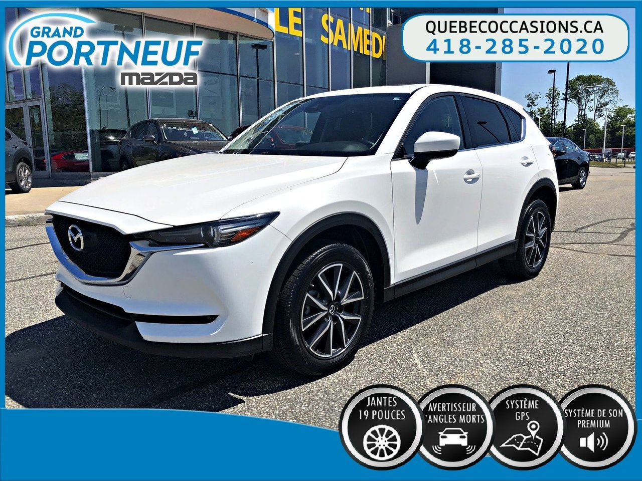 2017 Mazda  CX-5 GT - CUIR - ANGLES MORTS - TOIT OUVRANT
