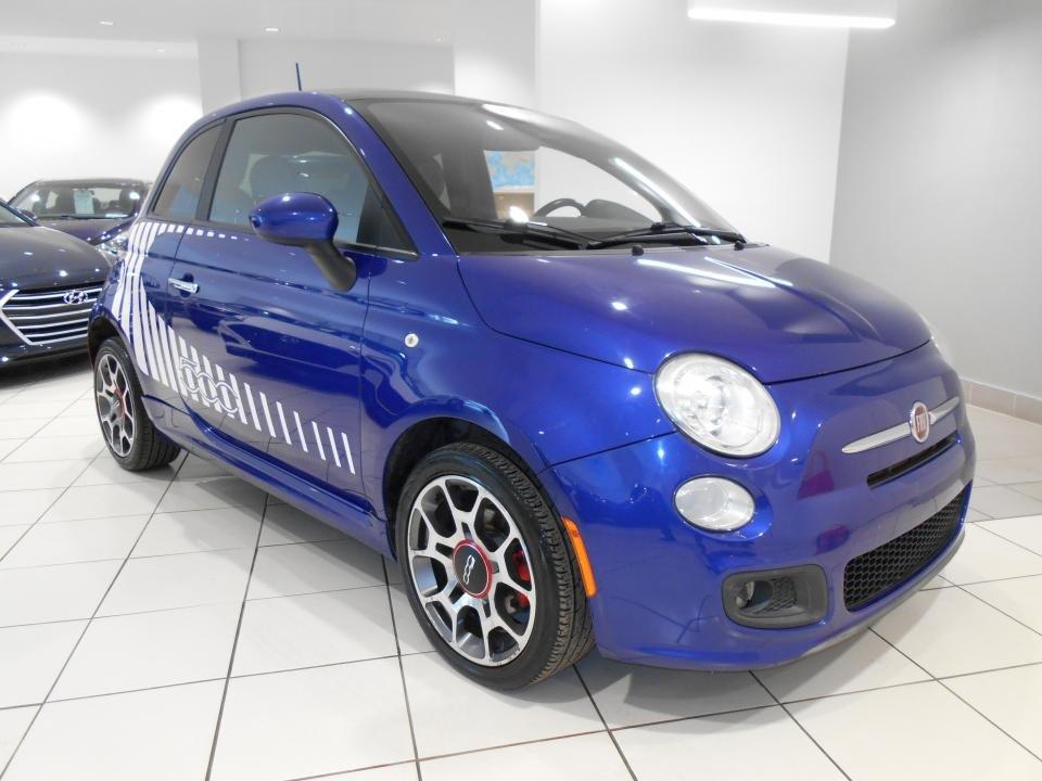 Fiat 500 2012 SPORT ** TOIT,DEMI-CUIR,BLUETOOTH,BAS KM