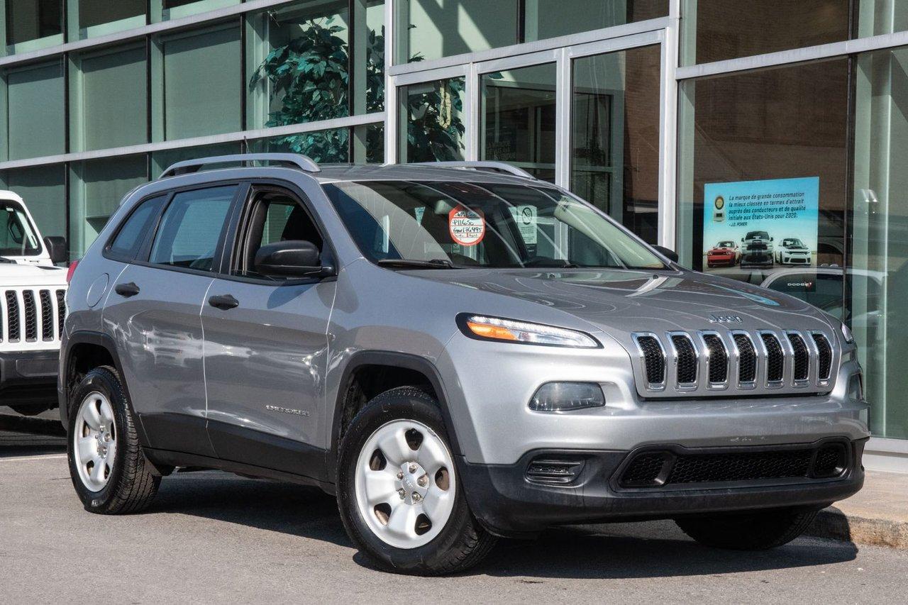 Jeep Cherokee 2016 SPORT 4X4 DEMARREUR A DISTANCE AC HITCH