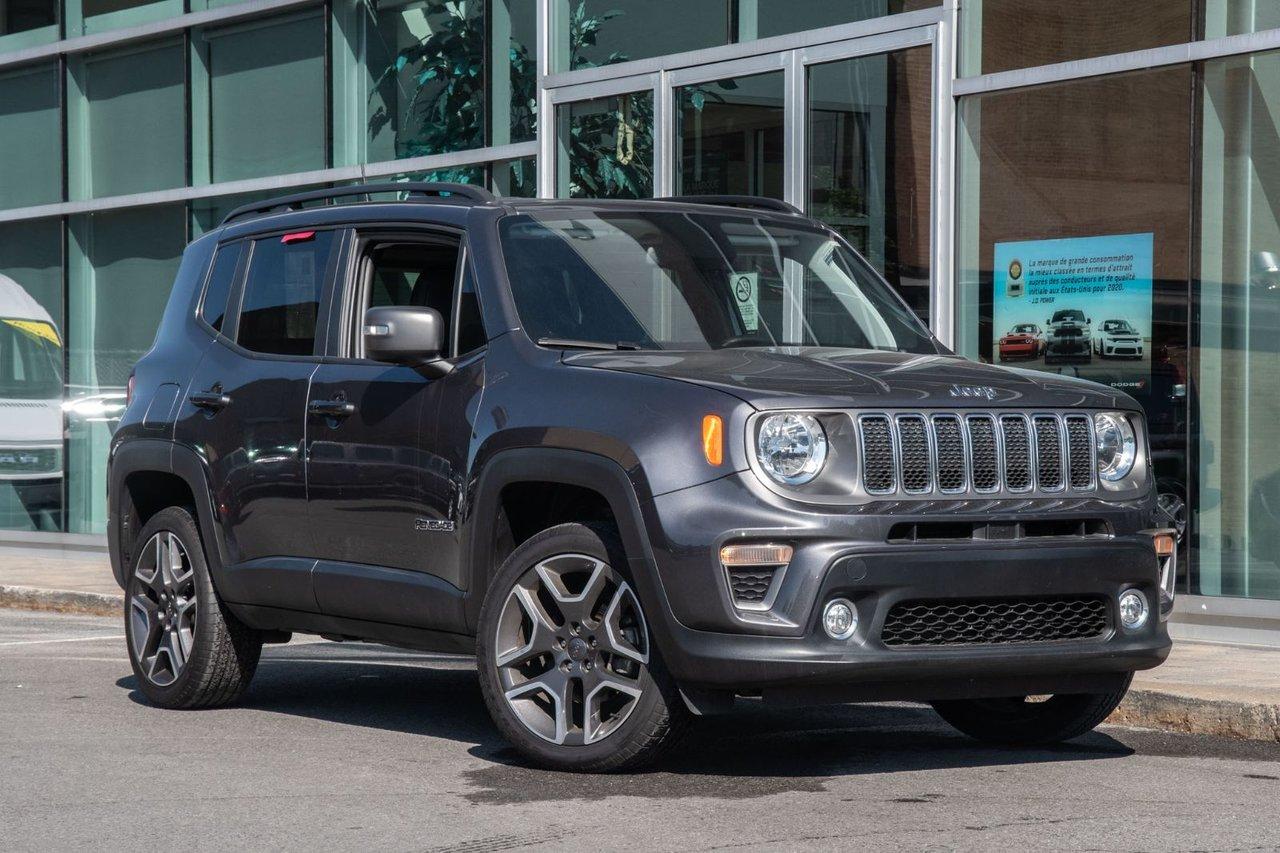 Jeep Renegade 2019 LIMITED 4X4 JAMAIS ACCIDENTÉ TURBO APPLE CARP