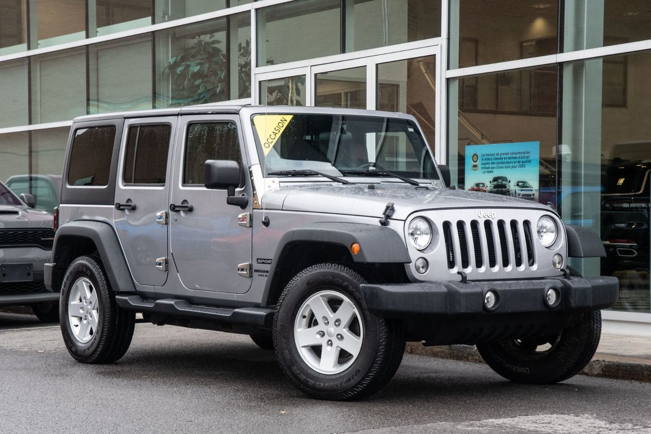 Jeep Wrangler 2017 SPORT V6 4X4 JAMAIS ACCIDENTÉ BLUETOOTH MAGS