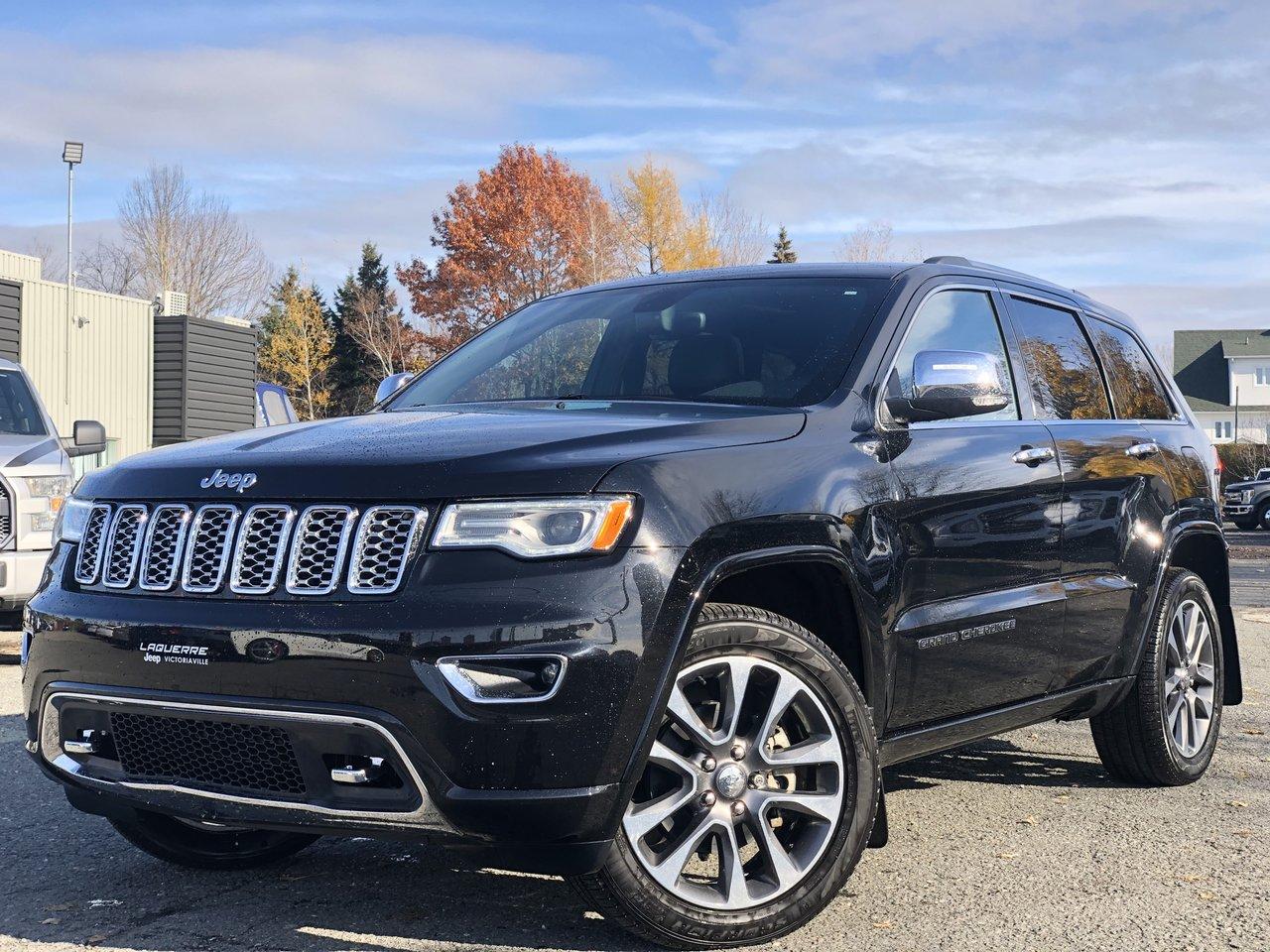 2018 Jeep  Grand Cherokee OVERLAND 4X4, NAV, TOIT PANORAMIQUE, BAS KM!!