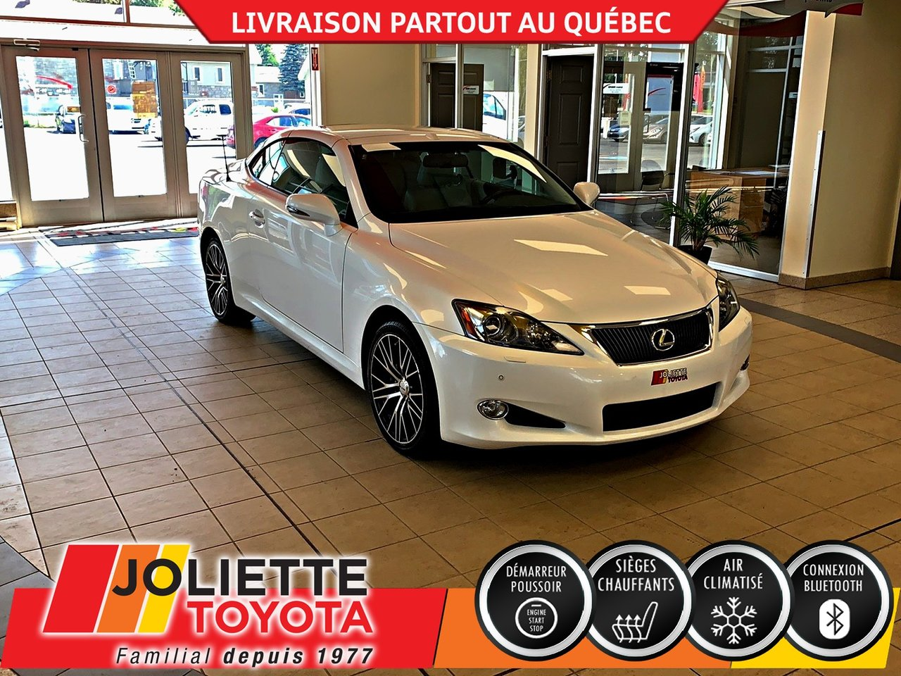 2010 Lexus  IS 350C DÉCAPOTABLE-BLUETOOTH-A/C-CUIR !!