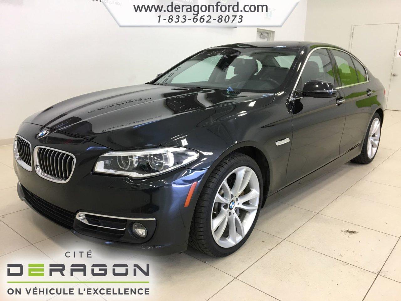 2015 BMW  Série 5 535i xDrive, NAV, TOIT, CAMERA, ROUES 18