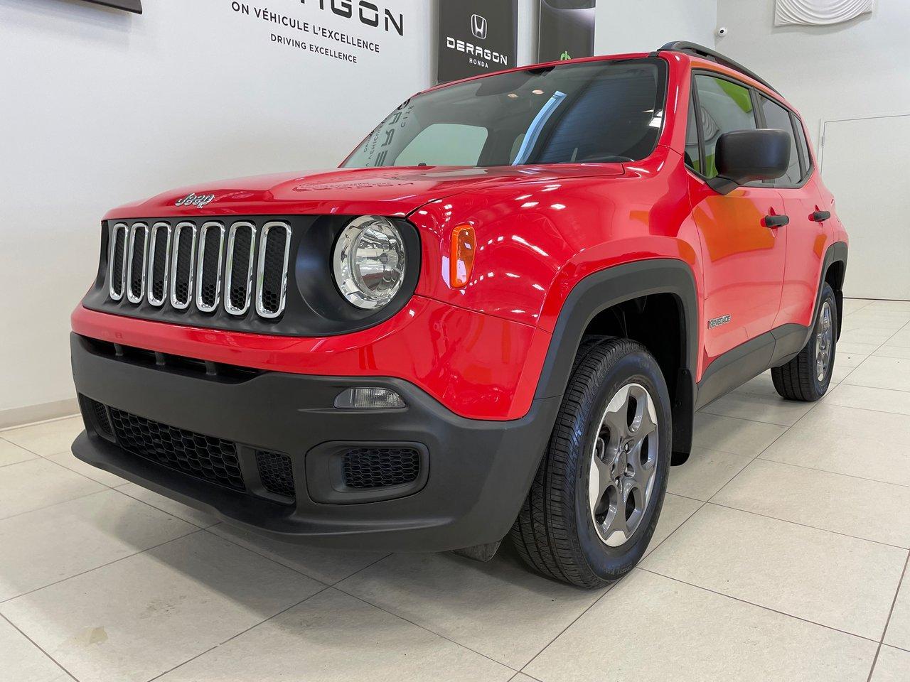 Jeep Renegade 2017 SPORT 4X4, CAMÉRA, ROUES 16, UN PROPRIÉTAIRE