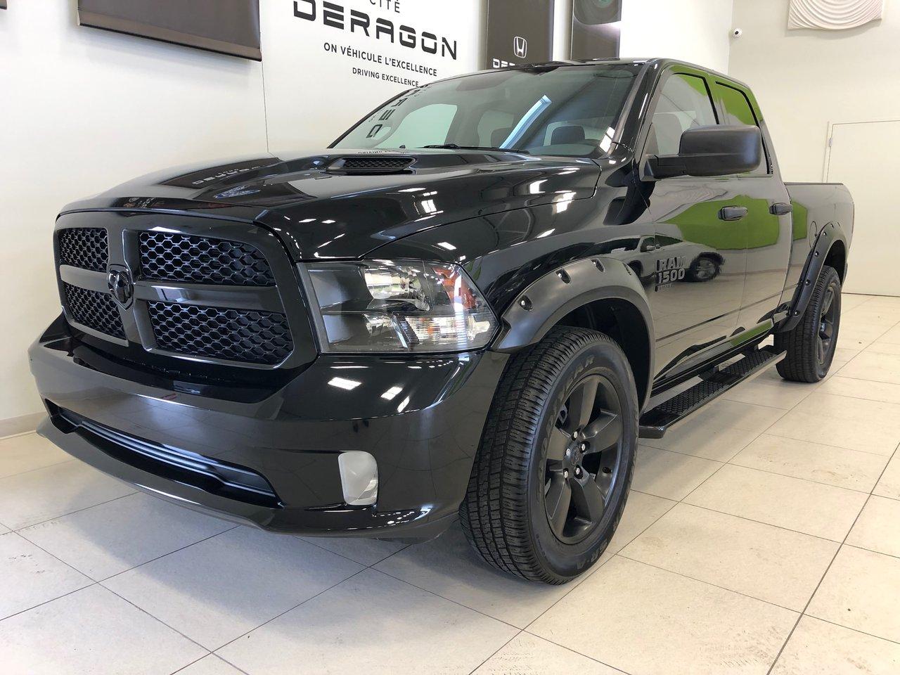 Ram 1500 Classic 2019 BLACK EXPRESS QUAD CAB, V6 3.6, CAMÉRA, HITCH