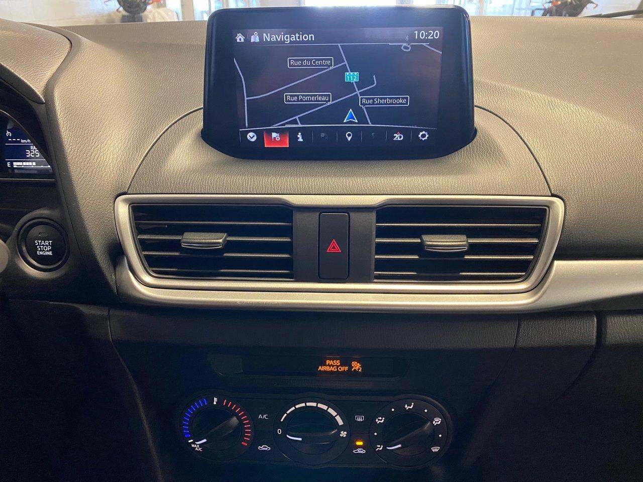 2018 Mazda Mazda3 GX / JAMAIS ACCIDENTEE. Navi